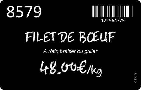 Sample cards for butcher