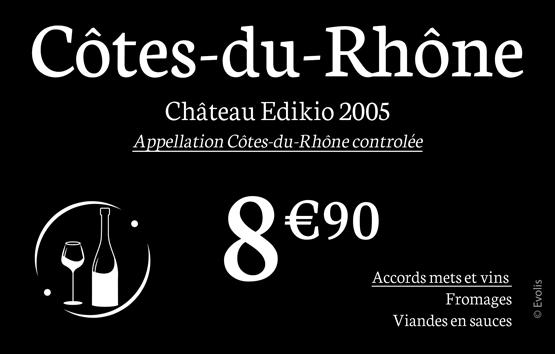 Sample cards for wine merchants